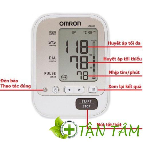 Máy đo huyết áp Omron IPN600 giao diện thân thiện người dùng