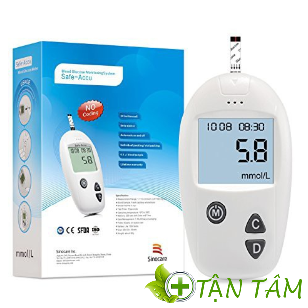 Máy đo đường huyết safe-accu sinocare