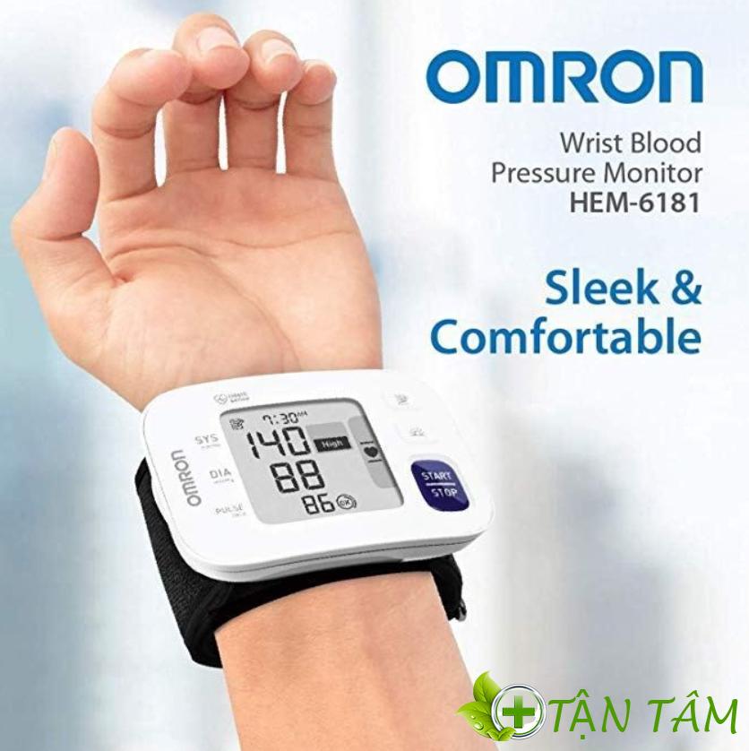 Máy đo huyết áp cổ tay Omron HEM – 6181: