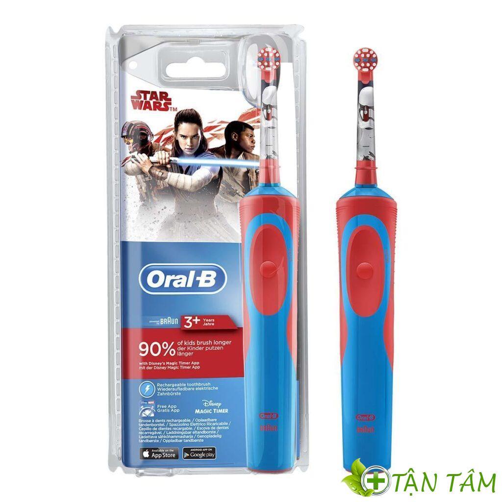 Nên sử dụng bàn chải điện Oral B với trẻ em từ 3 tuổi trở lên